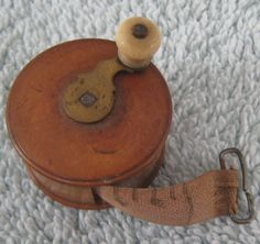 Antique Treen Treenware Sewing Tape Measure Mini Fishing Reel Very Nice Sewing Spaces, My Sewing Room, Sewing Box, Sewing Rooms, Love Sewing, Hand Sewing, Sewing Tape Measure, Sewing Scissors, Vintage Sewing Notions