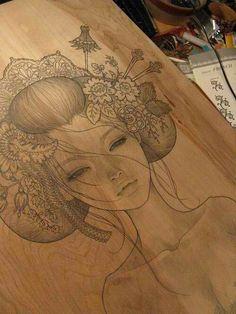 geisha drawing (via Bella Donna @tumblr 46161466603)