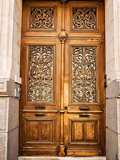 Ornate French carved doors