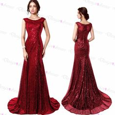 Sequins Prom Dress,red Prom Dress,sleeveless Prom Dress,long Prom Dress,Sexy Prom Dresses,prom Dress on Luulla
