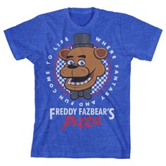 Are you ready for Freddy? Add some gaming style to your wardrobe with this awesome official Five Nights At Freddy's boy's t-shirt! Inspired by the survival horror game Five Nights at Freddy's, this he