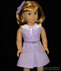 Kit dress by Damsels in Dress.  Looks adorable with the little jacket she has for it too.
