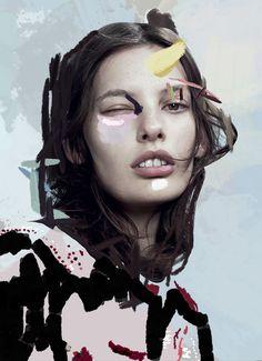 """ernestoartillo:  """" ARTWORK for IMG models NY FW14  """""""
