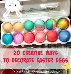 20 Creative Ways to Decorate Easter Eggs! Super creative ideas!