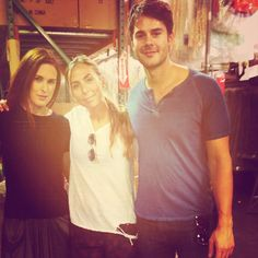 Jayson Blair & Rumer Willis with co-owner Osi @ the Gypsy05 warehouse