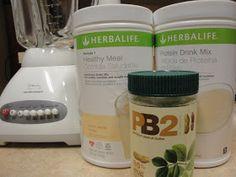 White chocolate peanut butter herbalife shake