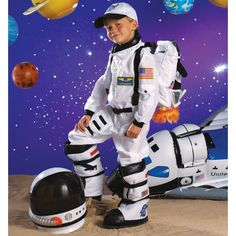 Maybe the LARGE toddler size for your mannequin? Astronaut (White) Toddler / Child Costume