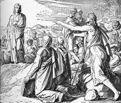 Bilder der Bibel - Johannes Zeugnis von Christo - Julius Schnorr von Carolsfeld