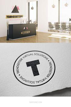 Logo mockups for Trendsetter Virtual Solutions. Innovative, future-driven, empowering. #logo #logos #branding #logomockup #stamplogo #logostamp #brandidentity #smallbusiness #brandinginspo #logoinspo #futuristic Logo Branding, Branding Design, Logo Design, Logos, Branding Portfolio, Lab Logo, Brand Archetypes, Rack Card, Online Entrepreneur