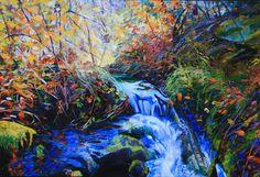"""Saatchi Online Artist Ellen Dittebrandt; Painting, """"Blue Cold Stream """" #art"""