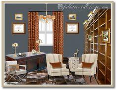 Fieldstone Hill Design: design board gentleman's library