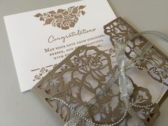 Floral Phrases, Stampin' Up! & thinlits - Wedding Wishes