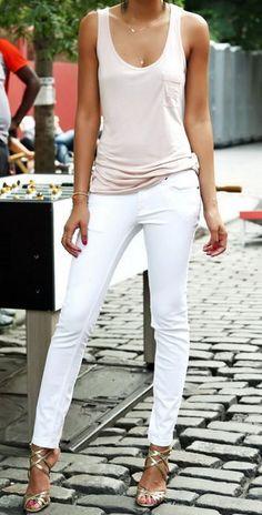 Women's White Jeans - Best Summer Street Looks