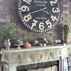 Cottage mantel in autumn