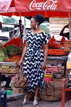 Day Six: Author Chimamanda Ngozi Adichie shows Vogue what she's wearing for March.