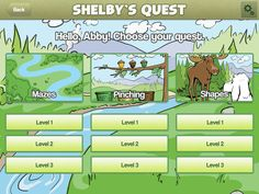 Shelby's Quest - a pre-writing app developed by occupational therapist, Kami Bible, OTR/L