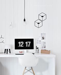"""Menu POV Candle holders spotted in """"White and bright Nordic home office from Only Deco Love"""""""