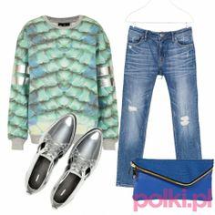 03ef3e0d27c75 Hit jesieni  Modne stylizacje z bluzami z fotonadrukiem - Polki.