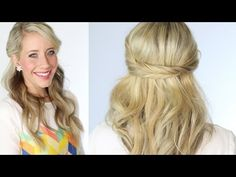 The happiest place around to find the best hairstyle tutorials! Abby is the best selling author to The Ultimate Hairstyle Handbook and The New Braiding Handb. New Hair Do, Hair Day, Half Up Half Down Hair, Half Updo, Fashion And Beauty Tips, Beauty Ideas, Open Hairstyles, Hair Hacks, Hair Tips