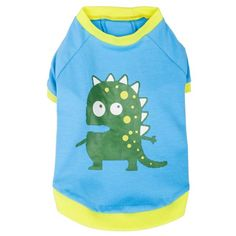 Blueberry Pet Alien the Dinosaur Cotton Dog Shirt in Blue for Puppy Back Length 8 Pack of 1 Clothes for Dogs *** Details can be found by clicking on the image.Note:It is affiliate link to Amazon.