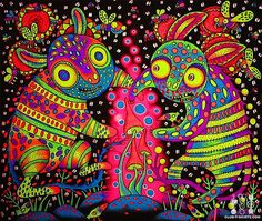 Autors: Satan in my soul psychedelic art. | Love the mix of tribal and psychedelic.