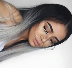 Grey Ombre Hair, Silver Grey Hair, Straight Wavy Hair, Eyebrows On Fleek, Hair Flip, Dream Hair, Beauty Routines, Gorgeous Hair, Hair Inspo
