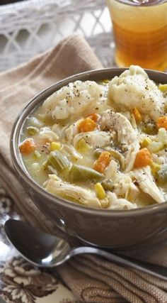 Chicken and Dumpling Soup. An easy and hearty soup!