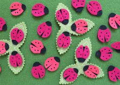 Adorable ladybug hair clips by Cheeky Monkey Home