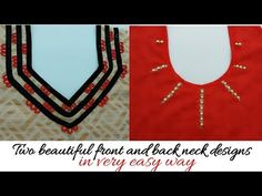 Kurti neck designs making in very easy way Back Neck Designs, Kurti Neck Designs, Sleeve Designs, Blouse Designs, Types Of Women, How To Make Beads, Trending Fashion, Fashion Trends, Colours