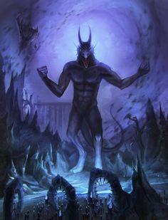 The evil Daedric Prince Molag Bal. Elder Scrolls Lore, Elder Scrolls Skyrim, Elder Scrolls Online, Fantasy Rpg, Dark Fantasy, Daedric Prince, Video Game Art, Video Games, Game Concept Art