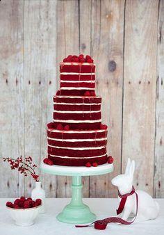 Delicious Red Velvet Wedding Cakes | www.onefabday.com