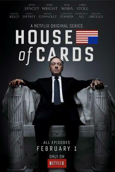 """House Of Cards (2013) Frank Underwood, homme politique rusé et vieux briscard de Washington, est prêt à tout pour conquérir le poste """"suprême""""..."""
