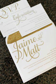 Modern New Haven Wedding from Michelle Lange Photography - wedding invitation