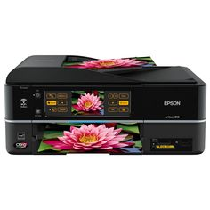 Epson Artisan 810 Wireless All-in-One Color Inkjet Printer, Copier, Scanner, Fax (C11CA52201). Brilliant 7.8-Inch touch panel. WiFi & Ethernet networking built-in. Unbeatable quality & speed. Color fax and 30 page Auto Document Feeder. Easily charge a cell phone or MP3 player without tying up an additional outlet.