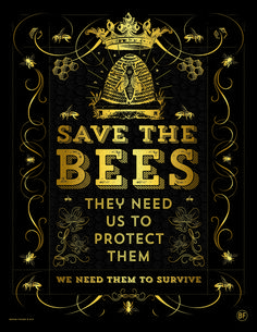 As a person who feels deeply about nature and science I have a growing concern for the declining bee population. Since the 40s, honeybee colonies have decreased from 5 million to 2.5 million. Researchers say there could be many reasons for the decline: everything from parasites and bacteria to environmental stress, like a lack of pollen. They need us and we need them, it is a symbiotic relationship. We must nurture and care for them. ALL PROCEEDS WILL GO TO WWW.POLLINATOR.ORG
