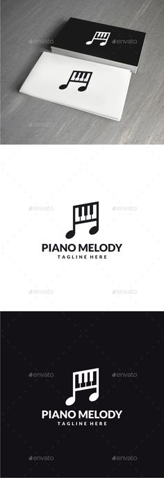 Piano Melody Logo — Photoshop PSD #keyboard #instrument • Available here → https://graphicriver.net/item/piano-melody-logo/13984172?ref=pxcr