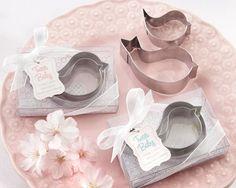 """Tweet Baby"" Mamma & Baby Bird Stainless-Steel Cookie Cutters (Pink or Blue)"