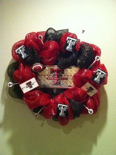 Texas Tech Wreath by 4girlzdecor on Etsy, $55.00