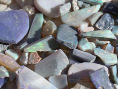 Opals - Lighting Ridge Australia, Black Opal Rough - from CRYSTALS MINERALS GEMSTONES FOSSILS ROCKS