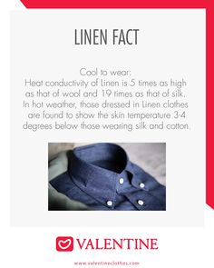 #Didyouknow Did you know this facts about Linen Clothes? https://valentineclothes.com/ #Facts #Linen #Valentine #Valentineclothes #MadewithLove #Happyshopping