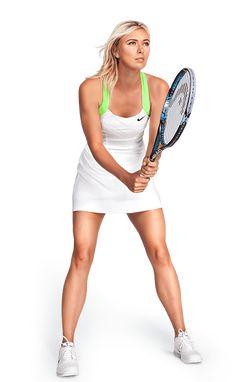 Maria Sharapova Looking Up