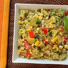 Serious Salads: Quinoa with Corn, Tomatoes, Avocado, and Lime Recipe  don't forget the Lime Bomber   http://www.limebomber.com for more information