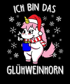 Ich bin das Glühweinhorn There's nothing like a hot mulled wine at the Christmas market! That thought this cute unicorn too and promptly became the drunken Glühweinhorn 😀 wine # Glühwein horn Funny Lyrics, Unicorn Cookies, My Bubbles, Halloween Drawings, Knowledge And Wisdom, Cute Unicorn, Nature Crafts, I Feel Good, Picture Design