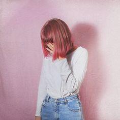 alternative, cute, fancy, fashion, girl, girly, grunge, hair, indie, jeans, look, pink, pretty, sad girl, sadness, styles, urban
