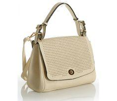 05c518cbd6253 Elegancka torebka damska ażurowa jasny beż CAMILLA STYLE  bag  elegant   fashion