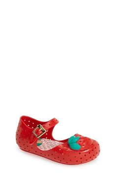 Mini Melissa 'Furadinha' Perforated Mary Jane Flat (Walker & Toddler) available at #Nordstrom