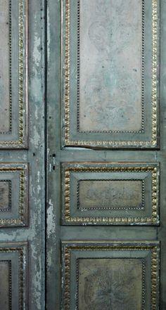 detail of original antique italian door
