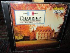 CHABRIER: COMPLETE PIANO MUSIC 2-DISC CD SET, RENA KYRIAKOU - PIANO, 19 TRACKS #SuiteWaltz