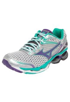 Tênis Mizuno Wave Creation 17 Prata/Verde/Roxo