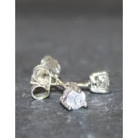 Teardrop Cubic Zirconia Stud Earrings